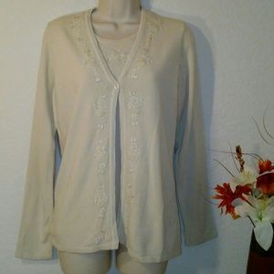 Croft & Barrow cardigan, size M